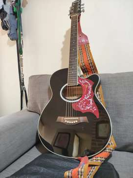 Guitarra freeman electroacústica cuerdas metal