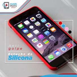 Estuche de Silicona Apple iPhone 5, 5s, 6, 6s, 6s, 7, 7, 8, 8, X, XS Rojo, Azul Rosa Negro