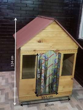 Casa Para Perro Grande 90x80cm Alto 124 Cm