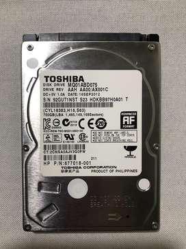 Disco Duro Toshiba Interno 750 Gb
