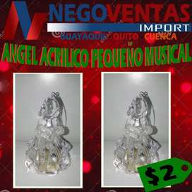 ANGEL ACRILICO PEQUEÑO MUSICAL DE OFERTA