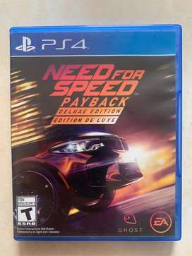 Need for speed Pay Back. PS4