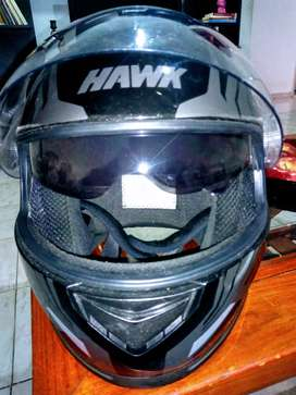 Casco Hawk RS11 doble visor Talle L