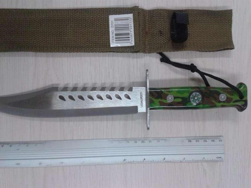 Cuchillo Militar Con Brujula Camuflado 34 Cm 0