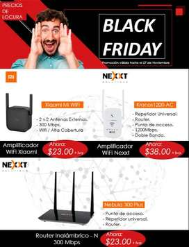 Expansor de señal wifi repetidor internet router xiaomi nexxt access point quito redes cable utp cat5 cat 6