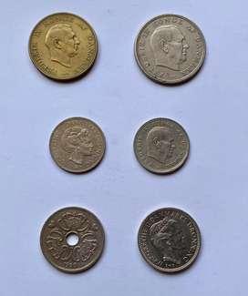 Dinamarca lote monedas