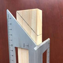 Escuadra multifuncional cuadrada de aleación de aluminio, regla de calibre de 45 y 90 grados