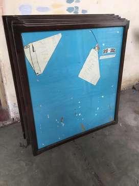 Marcos cuadros cedro, con vidrio