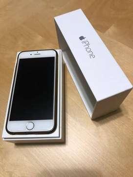 Iphone Silver 6 c/ caja y accesorios