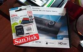 camara dvr para auto + memoria Sandisk de 16GB