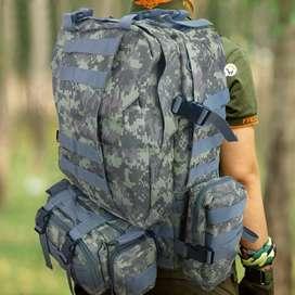 Morral Militar Grande 56 Litros Táctico Asalto Camping 238