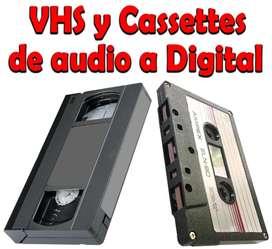 Vhs Y Cassettes De Audio A Digital