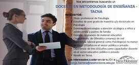 DOCENTE EN METODOLOGÍA DE ENSEÑANZA - TACNA