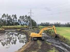 Alquiler de Excavadora, Movimiento de Tierra, Demoliciones, Derrocamiento de Casas, Excavaciones, Desbanques, Volqueta