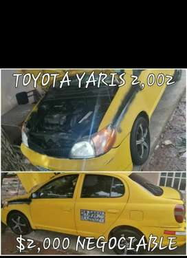Vendo yaris 2002 en 2,000 negociable