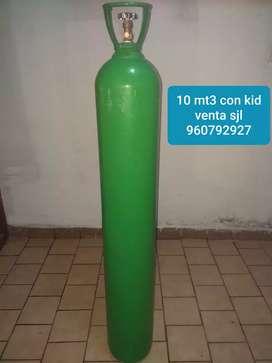 Balon oxigeno 10 mt3 con kid