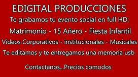 Grabamos tu evento social en full HD