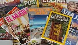 Editor de textos en libros y revistas
