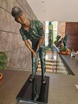Esculturas originales golfistas