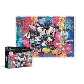 Rompecabezas 1000 Piezas Disney Mickey Y Minnie Ronda