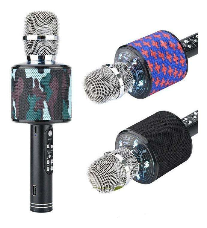 Micrófono Karaoke K-319 Bluetooth Parlante Portatil Sd Aux 0