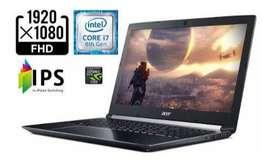 Portátil Gamer Acer a715 Aspire 7, i7 8750H, 4gb video, 8gb ram, HDD 1Tera, usado segunda mano  Los Alcázares Norte