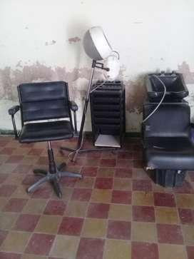 Lavacabezas .sillon de corte secador ayudante peluqueria