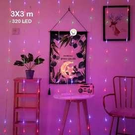 Luces Cascada 3X3 Mts 320 LED Navidad Multicolor 3X3-320L