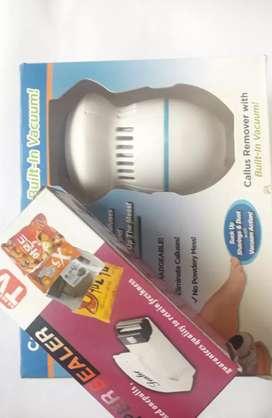 Pulidor de callos + sellador de fundas por calor
