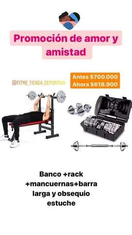 Banco y pesas