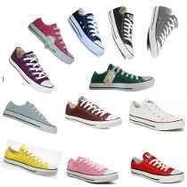 Converse de diferentes colores y estilos...