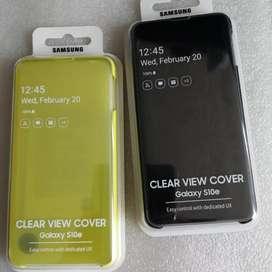Clear View Cover Samsung Galaxy S10e. Originales Amarillo o Negro.