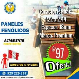 TABLEROS FENOLICOS NUEVOS.