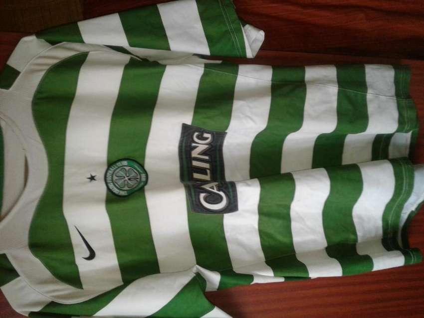 Camiseta Celtic FC Original del año 2005 - 2007 Talle L/XL liga y UCL 0