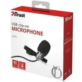 Micrófono Trust Lava Clip-On USB