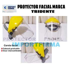 Protector facial medio casco