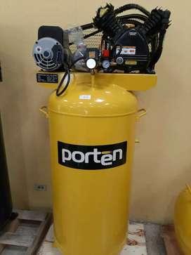 COMPRESOR DE AIRE 5.5HP 220V 80GALONES VERTICAL MARCA PORTEN