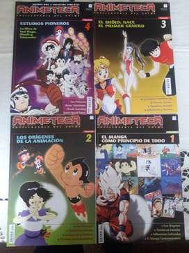 Lote Revistas Animeteca Fasciculos 1 al 5 Origenes Manga Anime Excelentes!!!