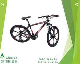 Bicicleta Aro 26 Montañera Aluminio