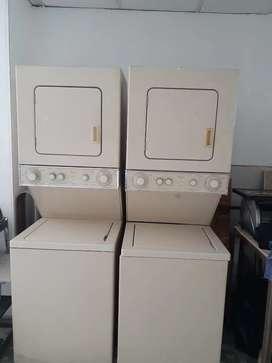 Se venden lavadoras secadoras tipo torre