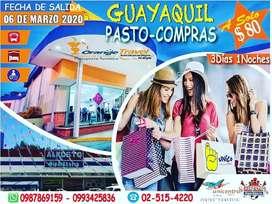 TOUR DE COMPRAS EN PASTO COLOMBIA DESDE GUAYAQUIL