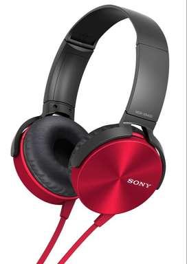 Auriculares Sony Extra Bass Rojos Con Refuerzo De Bajos