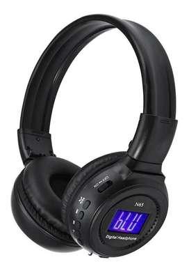 Audifonos Bluetooth Radio Diadema Pantalla Microsd Flexible