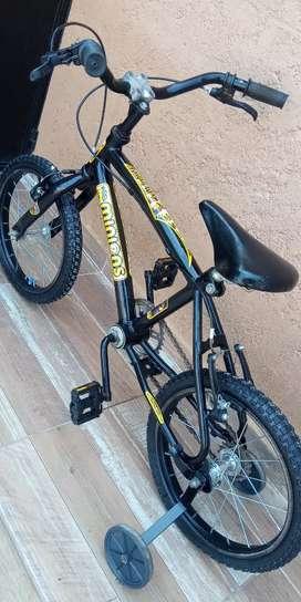 Bicicleta rodado 14 con rueditas