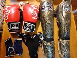 Vendo protecciones completas para kickboxing
