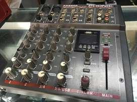 Mezclador compacto Phonic AM 220P 2 entradas