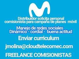 Comisionista para campaña de Movistar