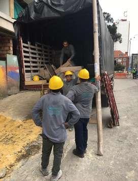 Descargue de camiones Tractomulas Contenedores Coteros Cuadrillas con ARL, Auxiliares de bodega por días