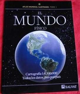 ATLAS MUNDIAL ILUSTRADO TOMO 1 EL MUNDO FÍSICO ED. SALVAT en LA CUMBRE PUNILLA