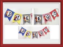 Banderines, Guirnaldas 100 Personalizados